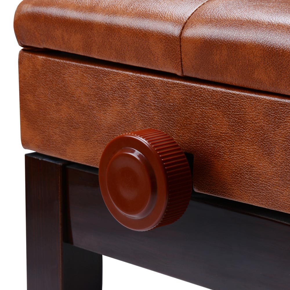 82 brown leather piano bench leather piano bench