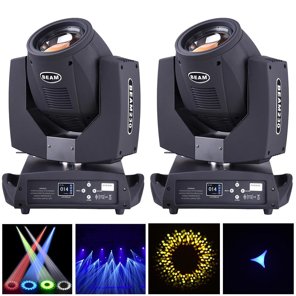 1x 2x 230w led beam moving head stage light dmx512 dj dimmable effect lighting ebay. Black Bedroom Furniture Sets. Home Design Ideas