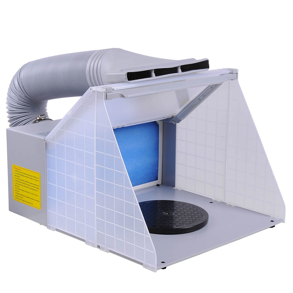 Portable Hobby Airbrush Paint Spray Booth Kit Exhaust ...