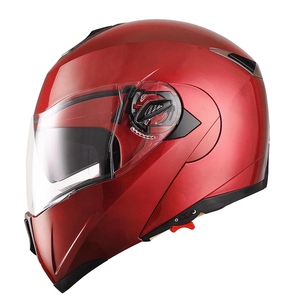 DOT-Flip-up-Modular-Full-Face-Motorcycle-Helmet-Dual-Visor-Motocross-Size-Opt thumbnail 45