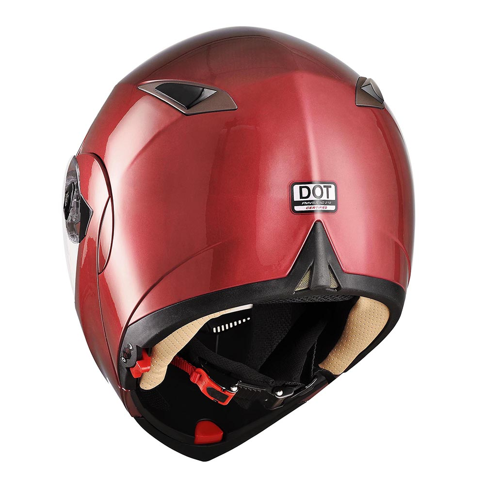 DOT-Flip-up-Modular-Full-Face-Motorcycle-Helmet-Dual-Visor-Motocross-Size-Opt thumbnail 48
