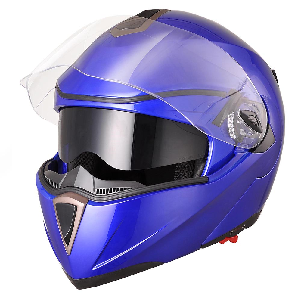 DOT-Flip-up-Modular-Full-Face-Motorcycle-Helmet-Dual-Visor-Motocross-Size-Opt thumbnail 23
