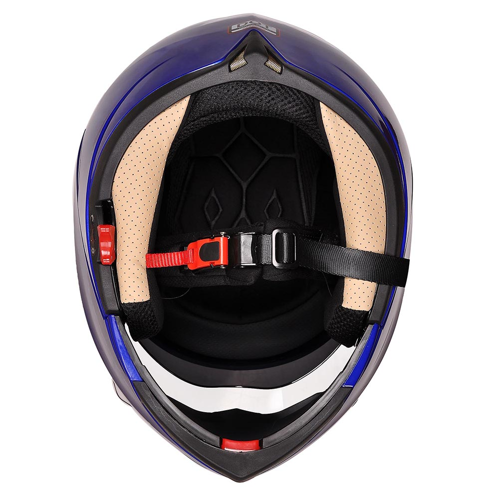 DOT-Flip-up-Modular-Full-Face-Motorcycle-Helmet-Dual-Visor-Motocross-Size-Opt thumbnail 29
