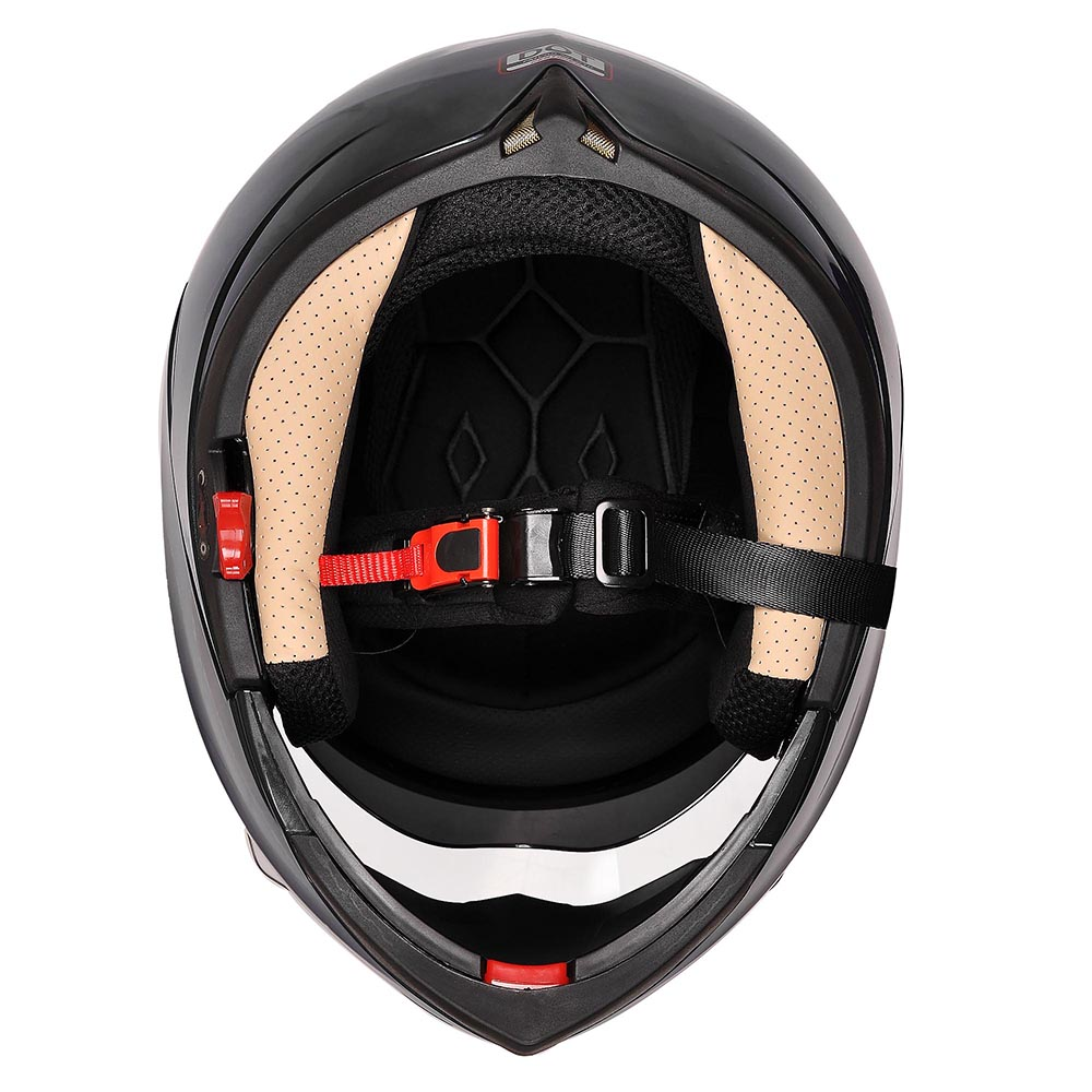 DOT-Flip-up-Modular-Full-Face-Motorcycle-Helmet-Dual-Visor-Motocross-Size-Opt thumbnail 19