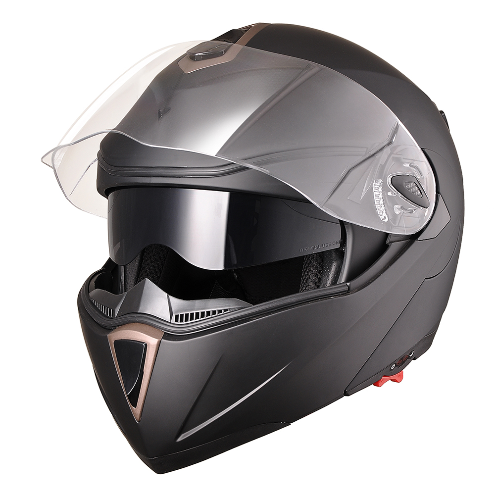 DOT-Flip-up-Modular-Full-Face-Motorcycle-Helmet-Dual-Visor-Motocross-Size-Opt thumbnail 33