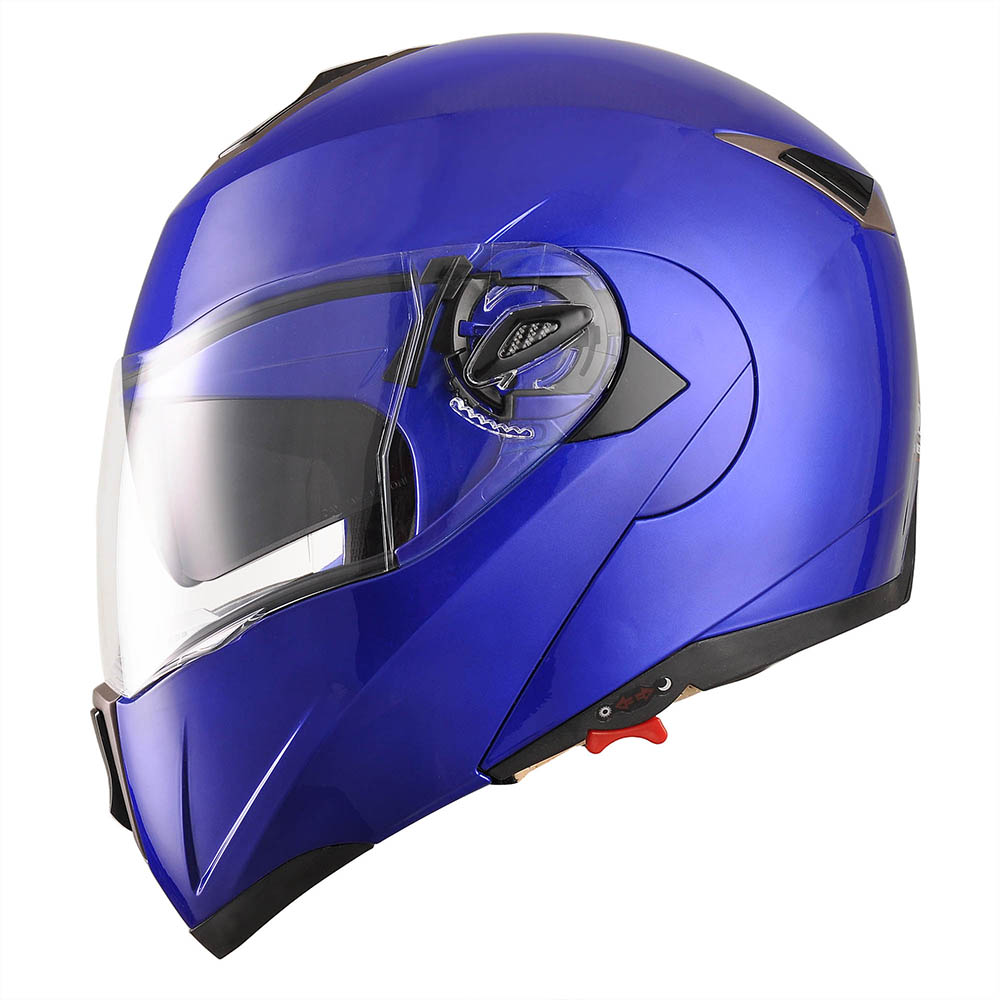 DOT-Flip-up-Modular-Full-Face-Motorcycle-Helmet-Dual-Visor-Motocross-Size-Opt thumbnail 75