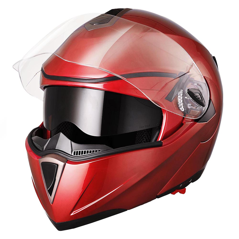 DOT-Flip-up-Modular-Full-Face-Motorcycle-Helmet-Dual-Visor-Motocross-Size-Opt thumbnail 144