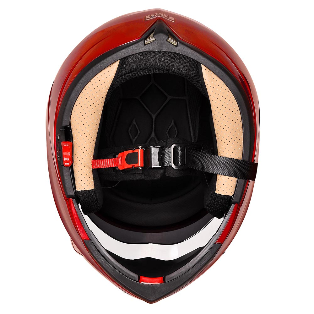 DOT-Flip-up-Modular-Full-Face-Motorcycle-Helmet-Dual-Visor-Motocross-Size-Opt thumbnail 150
