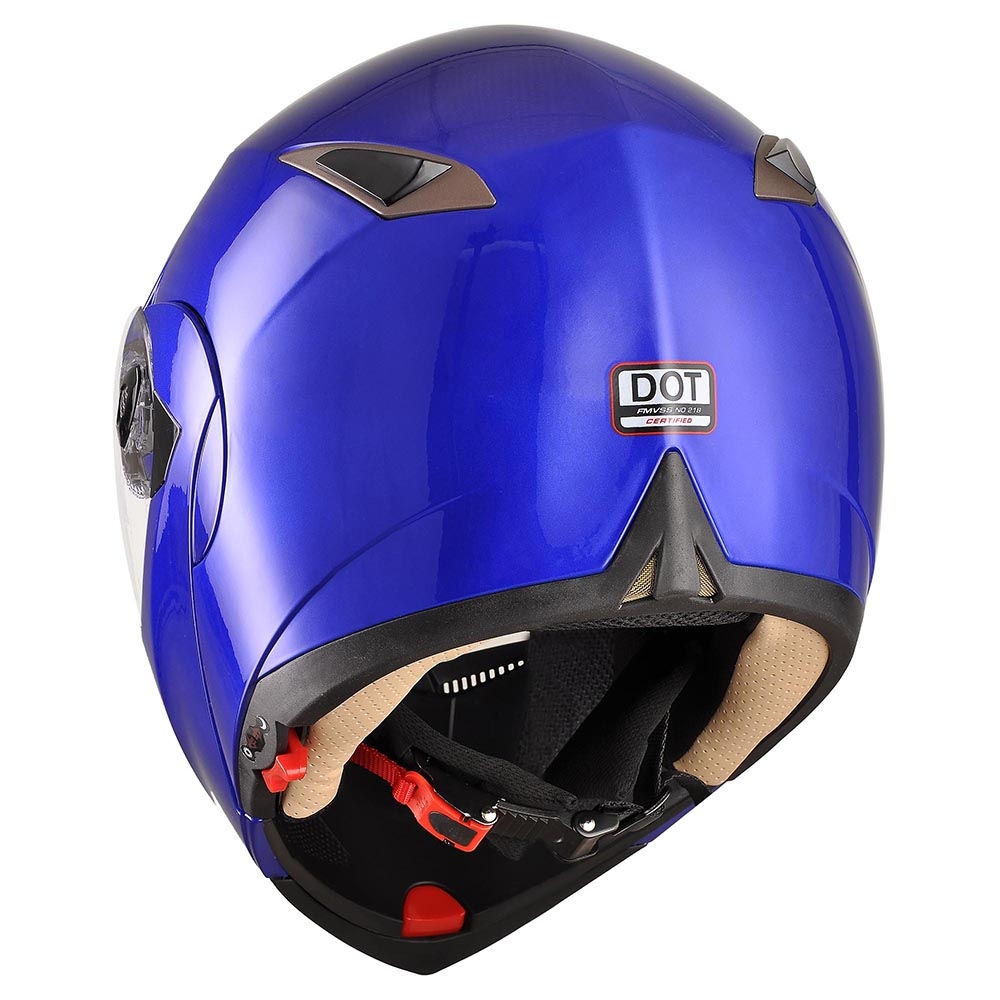 DOT-Flip-up-Modular-Full-Face-Motorcycle-Helmet-Dual-Visor-Motocross-Size-Opt thumbnail 128