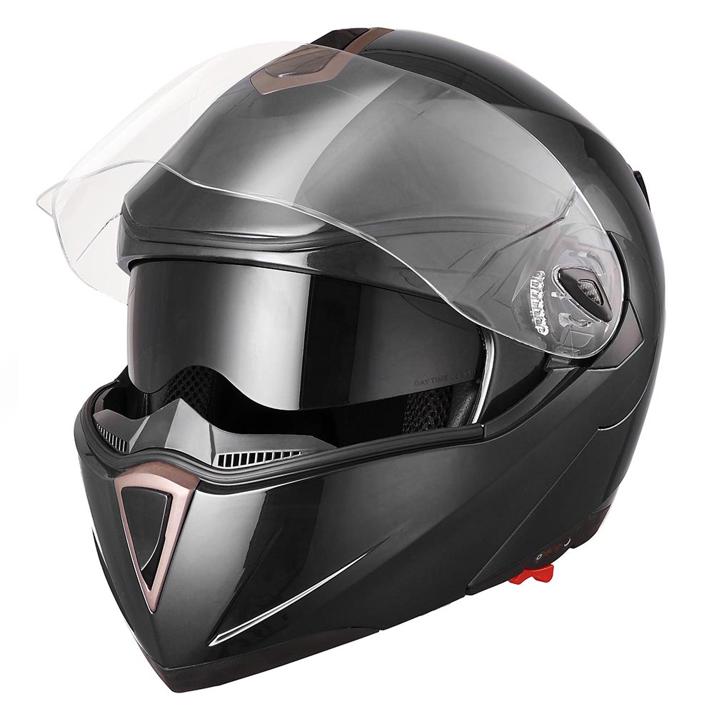 DOT-Flip-up-Modular-Full-Face-Motorcycle-Helmet-Dual-Visor-Motocross-Size-Opt thumbnail 113