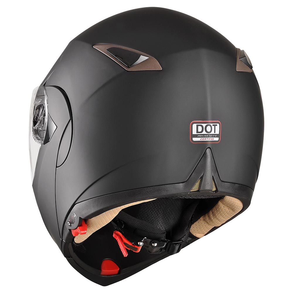 DOT-Flip-up-Modular-Full-Face-Motorcycle-Helmet-Dual-Visor-Motocross-Size-Opt thumbnail 138