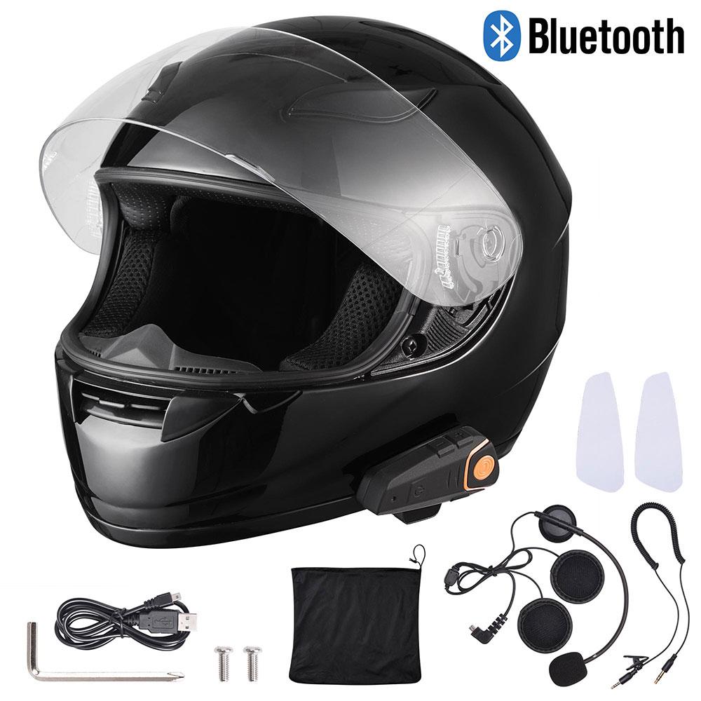 DOT-Motorcycle-Full-Face-Adult-Helmet-Size-M-XL-w-Bluetooth-Wireless-Headset thumbnail 3