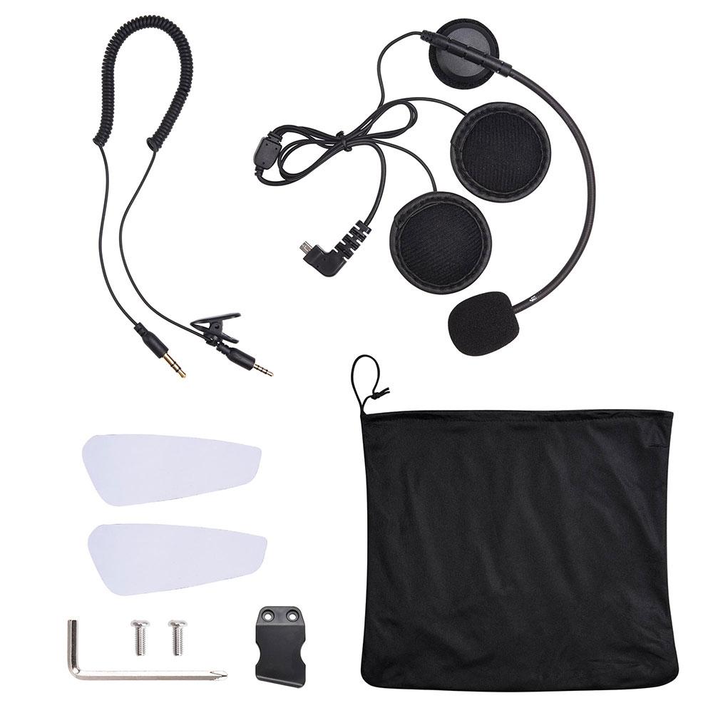 DOT-Motorcycle-Full-Face-Adult-Helmet-Size-M-XL-w-Bluetooth-Wireless-Headset thumbnail 8