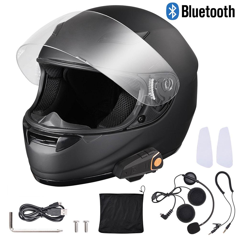 DOT-Motorcycle-Full-Face-Adult-Helmet-Size-M-XL-w-Bluetooth-Wireless-Headset thumbnail 32