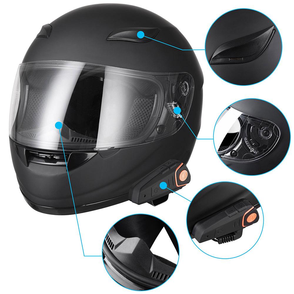 DOT-Motorcycle-Full-Face-Adult-Helmet-Size-M-XL-w-Bluetooth-Wireless-Headset thumbnail 40