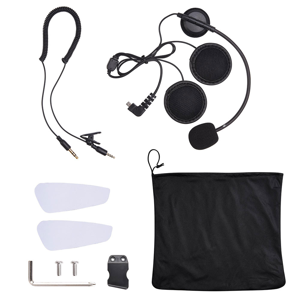 DOT-Motorcycle-Full-Face-Adult-Helmet-Size-M-XL-w-Bluetooth-Wireless-Headset thumbnail 18