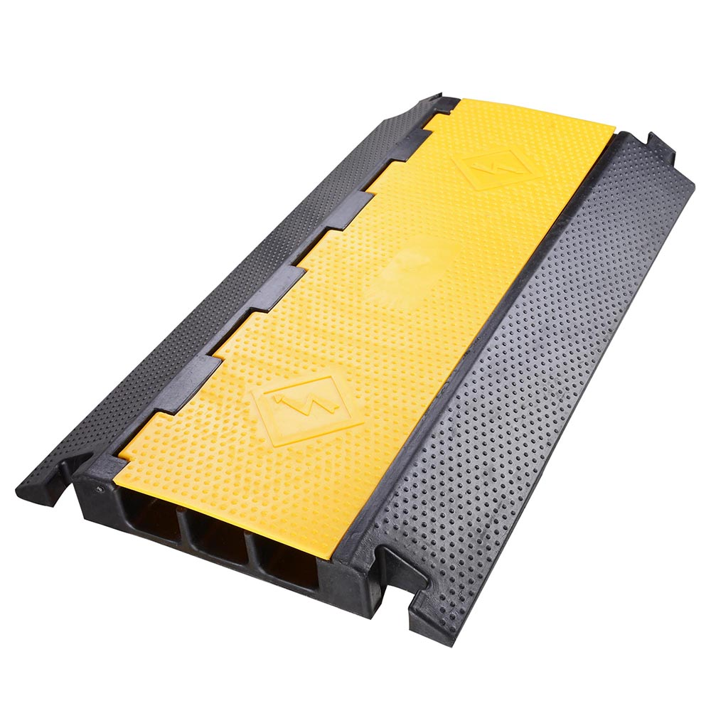 3 Channel Rubber Electrical Wire Cable Cover Ramp Guard