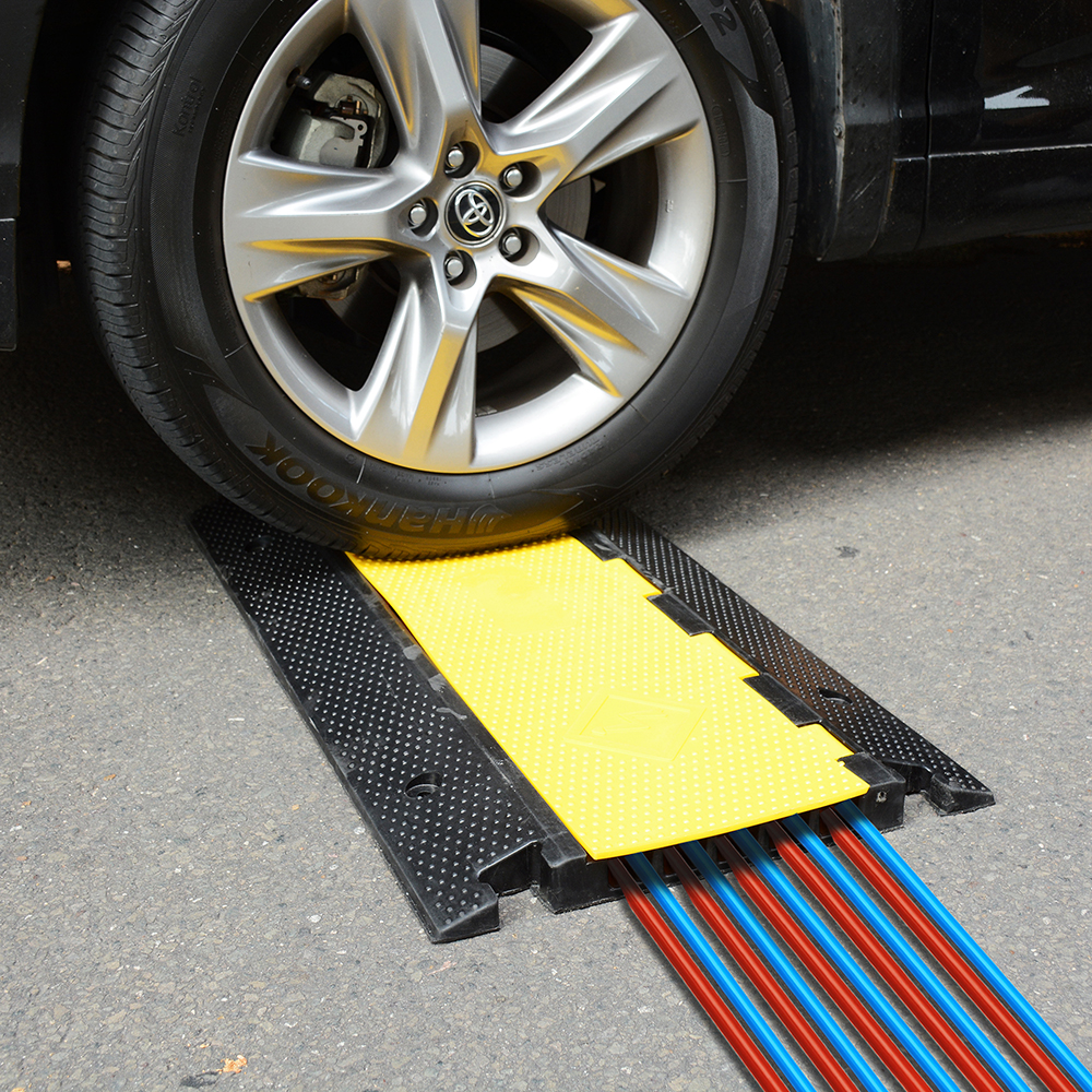 5 Channel Rubber Electrical Wire Cable Cover Ramp Guard