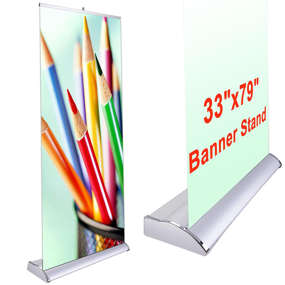 Expo Stand Banner : Pop up banner stand retractable roll trade show sign