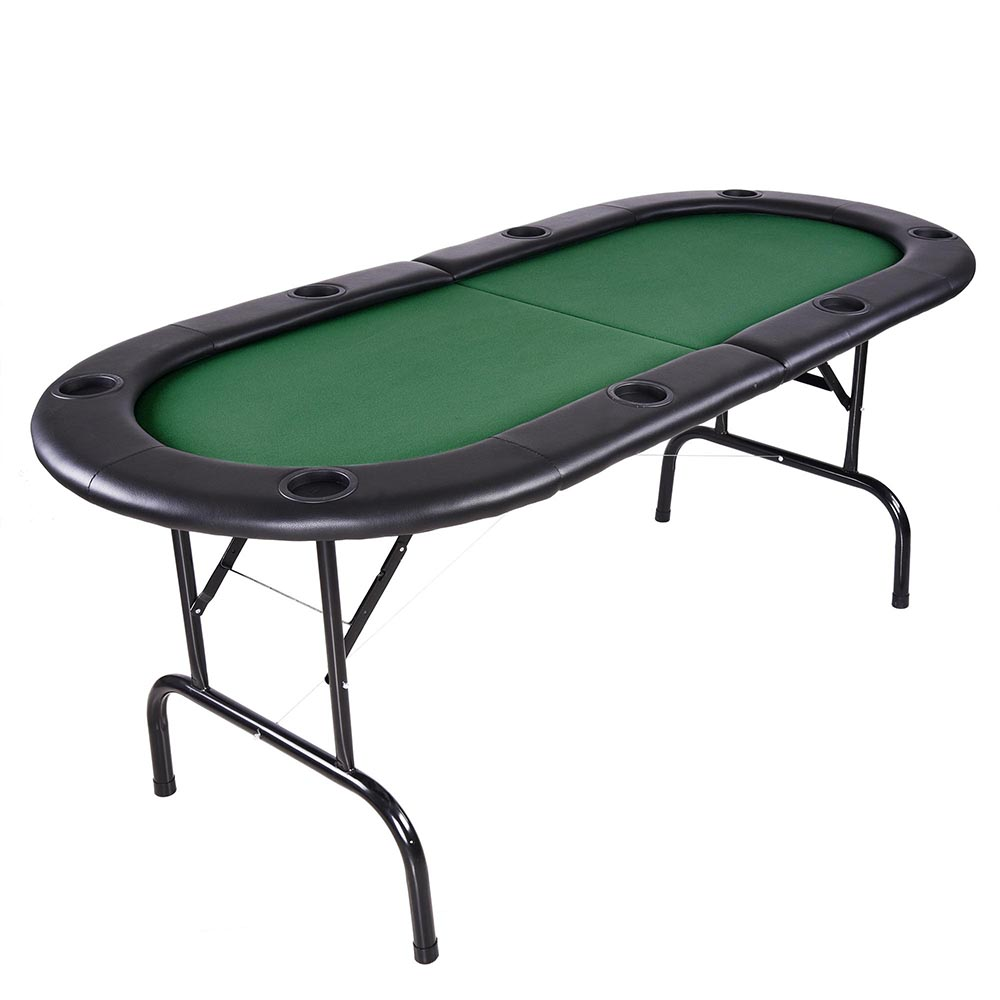 "73"" foldable 8 player poker table casino texas holdem folding"