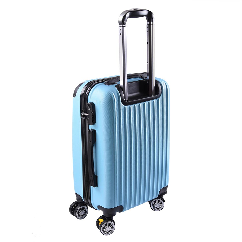 20 luggage travel bag trolley suitcase abs pc wheels rolling w code lock opt ebay. Black Bedroom Furniture Sets. Home Design Ideas