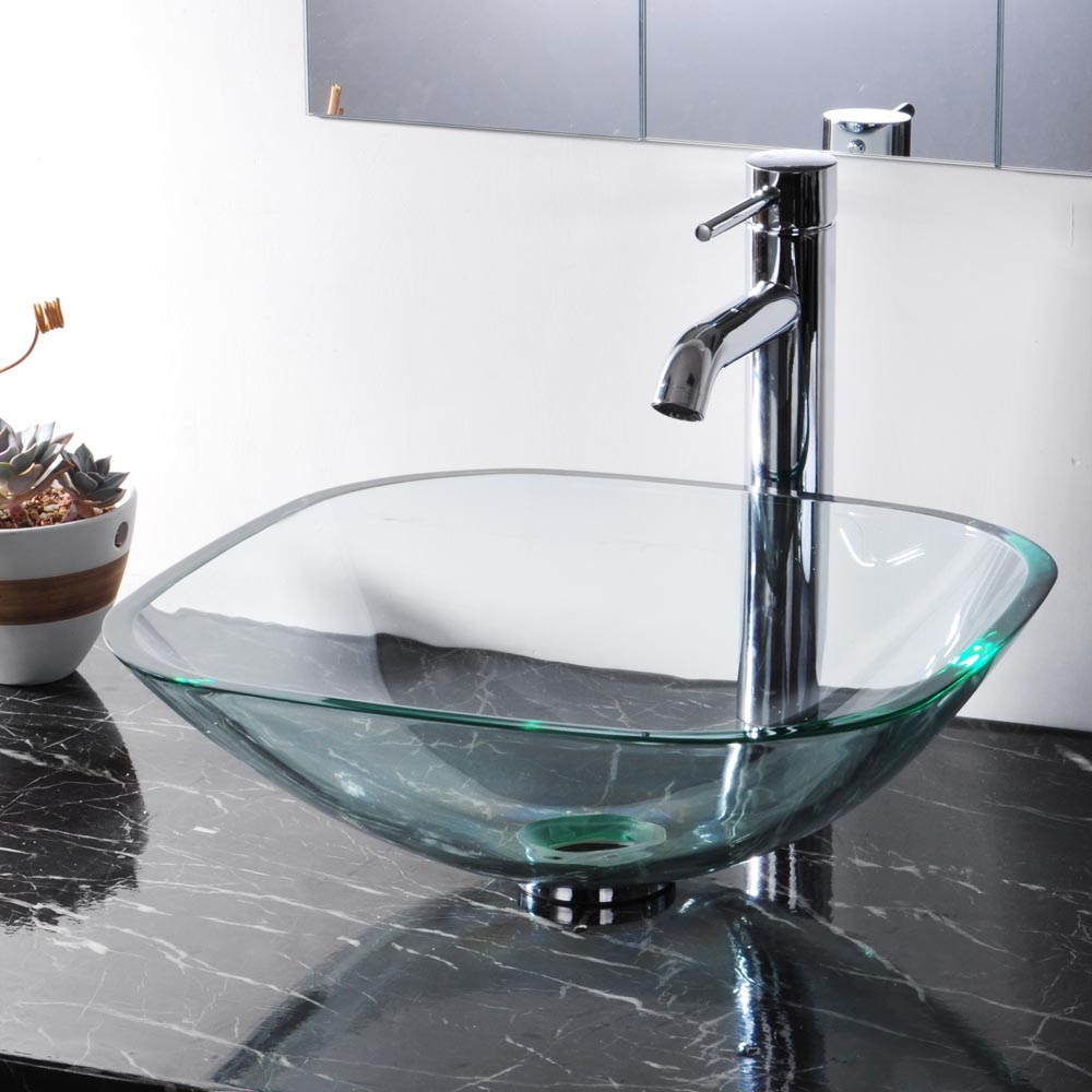 glass bathroom sinks bowls tempered glass bathroom vessel sink washroom clear 18465