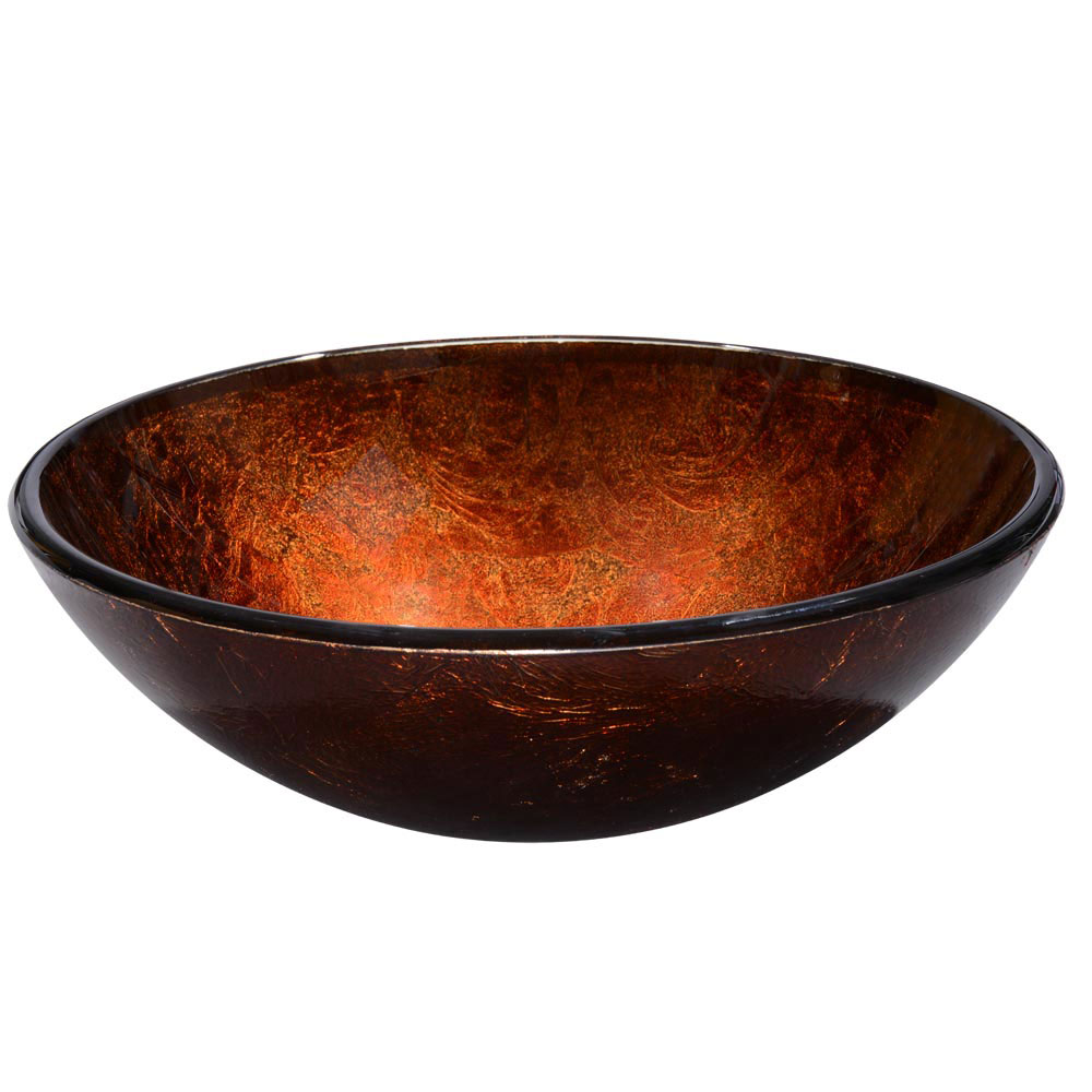 Tempered glass vessel sink bathroom lavatory round bowl - Bathroom tempered glass vessel sink ...