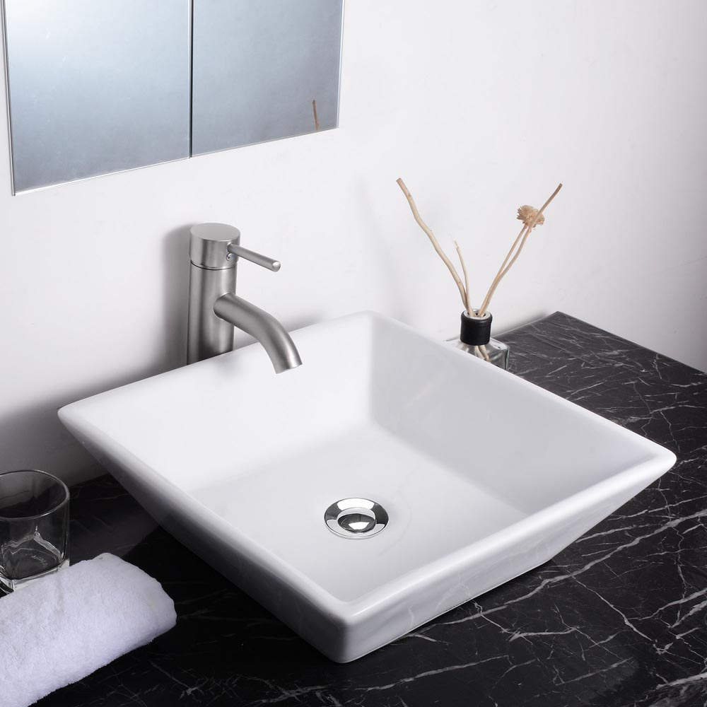"""Aquaterior® 16"""" Bathroom Porcelain Ceramic Vessel Sink"""
