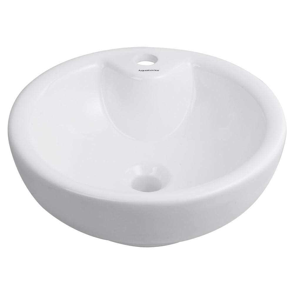 Bathroom-Porcelain-Ceramic-Vessel-Sink-Vanity-Basin-Overflow-Pop-up-Drain-White thumbnail 19