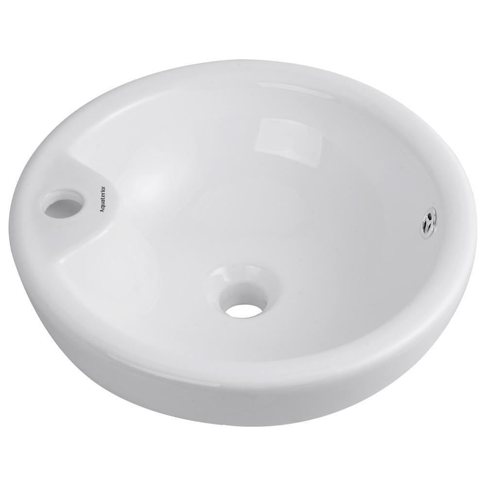 Bathroom-Porcelain-Ceramic-Vessel-Sink-Vanity-Basin-Overflow-Pop-up-Drain-White thumbnail 20