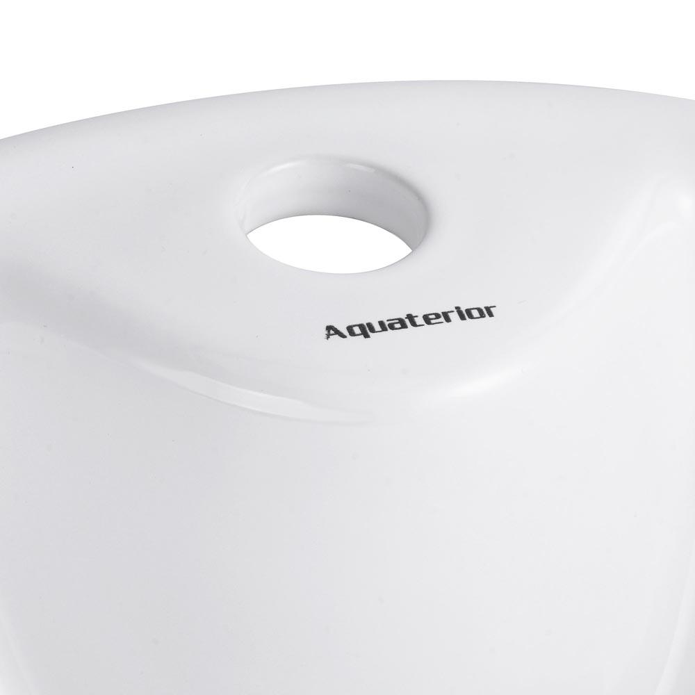 Bathroom-Porcelain-Ceramic-Vessel-Sink-Vanity-Basin-Overflow-Pop-up-Drain-White thumbnail 21