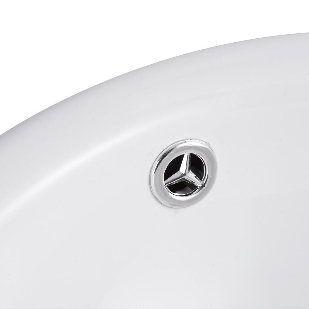 Bathroom-Porcelain-Ceramic-Vessel-Sink-Vanity-Basin-Overflow-Pop-up-Drain-White thumbnail 22