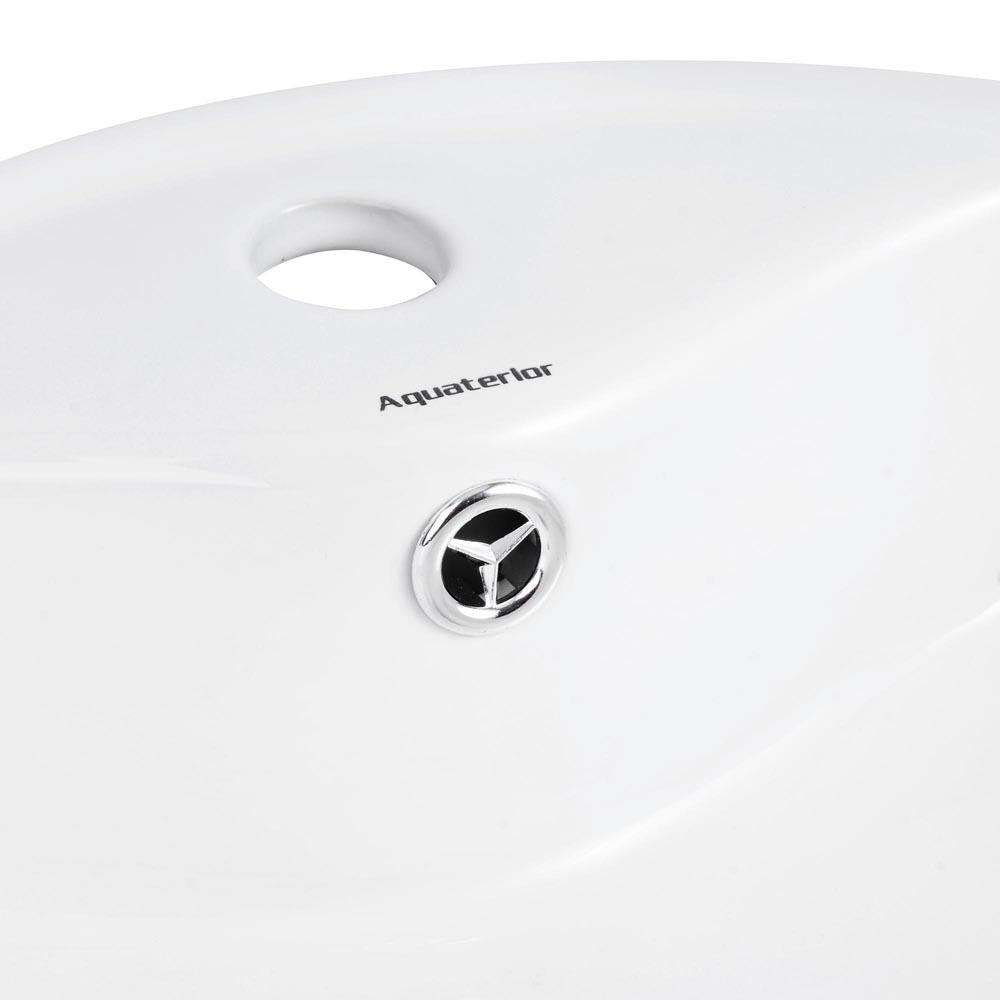 Bathroom-Porcelain-Ceramic-Vessel-Sink-Vanity-Basin-Overflow-Pop-up-Drain-White thumbnail 27