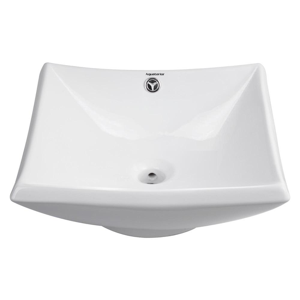 Bathroom-Porcelain-Ceramic-Vessel-Sink-Vanity-Basin-Overflow-Pop-up-Drain-White thumbnail 33