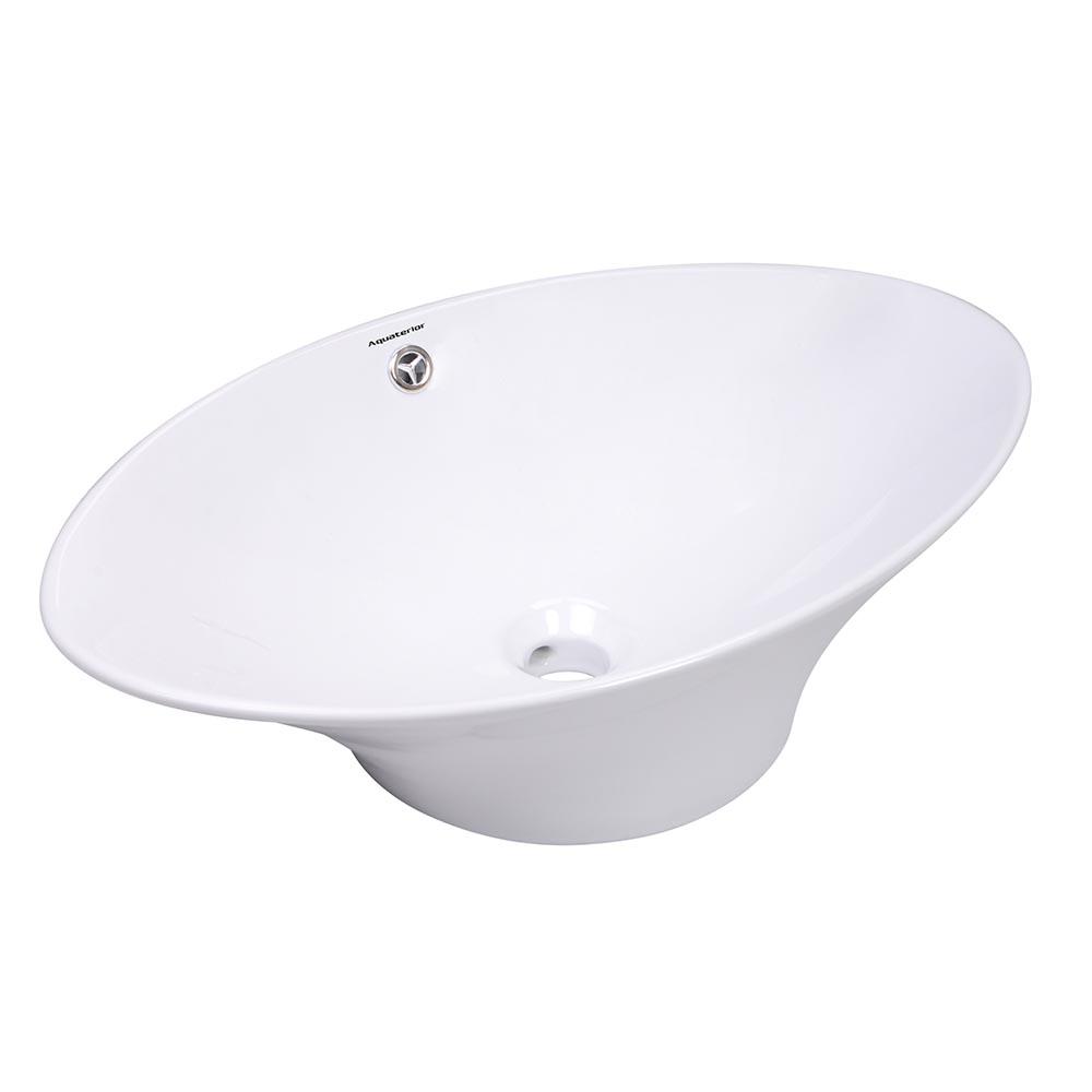 Bathroom-Porcelain-Ceramic-Vessel-Sink-Vanity-Basin-Overflow-Pop-up-Drain-White thumbnail 6