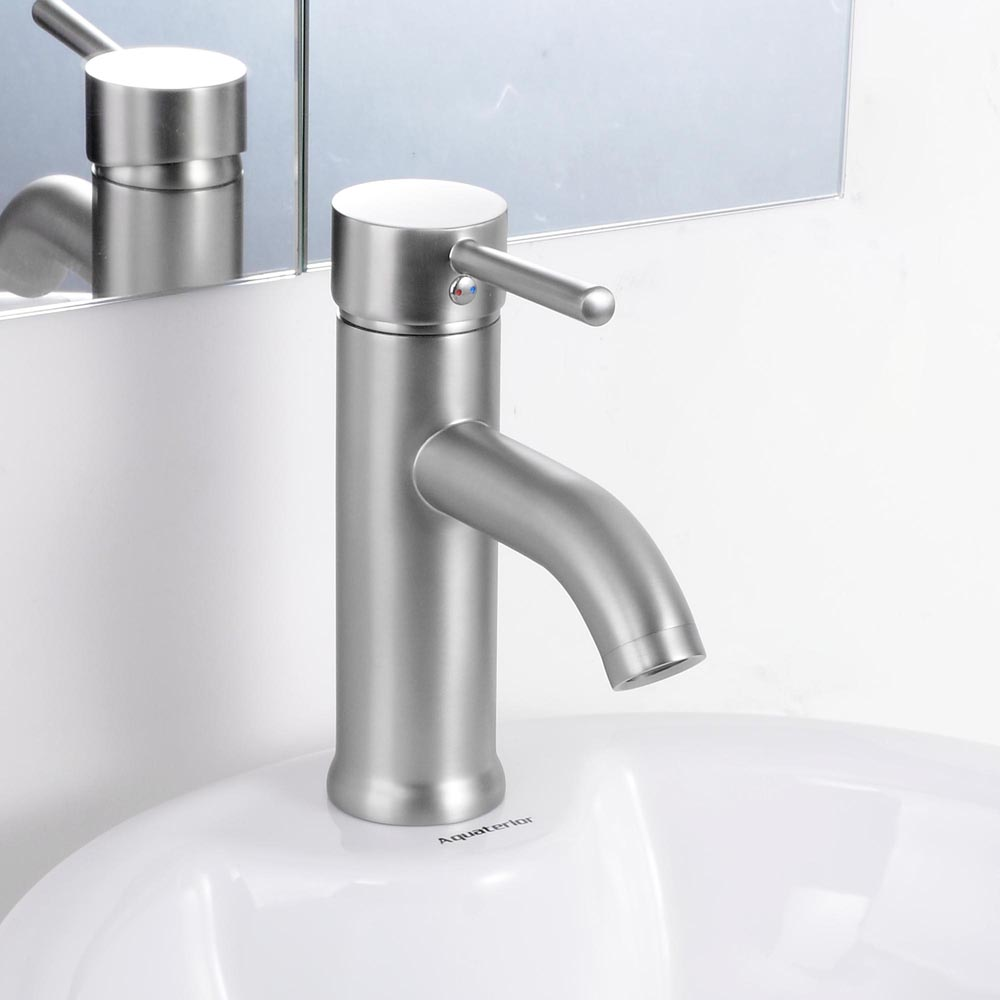 Modern Bathroom Lavatory Vessel Sink Faucet Single One