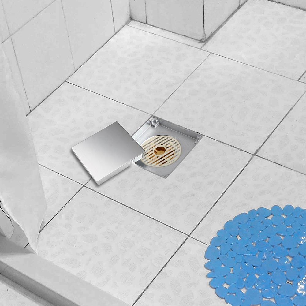Bathroom brass floor drain chrome home grate wetroom shower tile bathroom brass floor drain chrome home grate wetroom shower tile insert drainer dailygadgetfo Choice Image