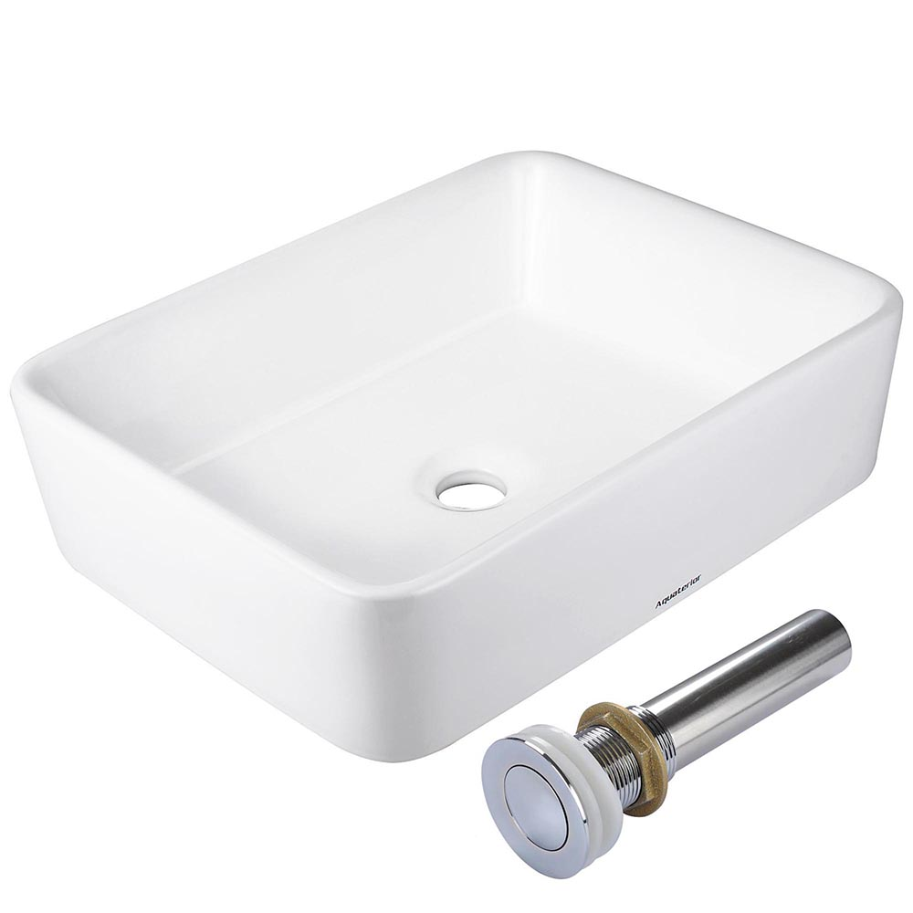 Aquaterior™ Bathroom Porcelain Ceramic Vessel Sink Bowl w ...