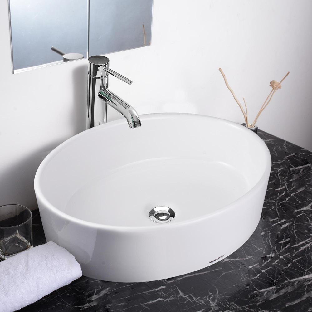 aquaterior bathroom porcelain ceramic vessel sink bowl w 20030