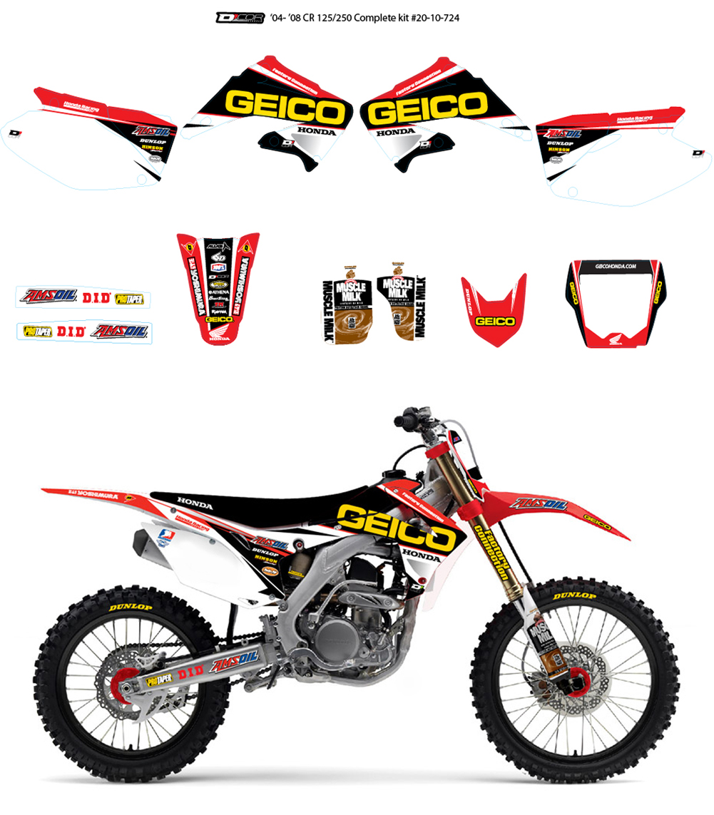 D'COR TEAM GEICO GRAPHICS & NUMBERPLATES KIT