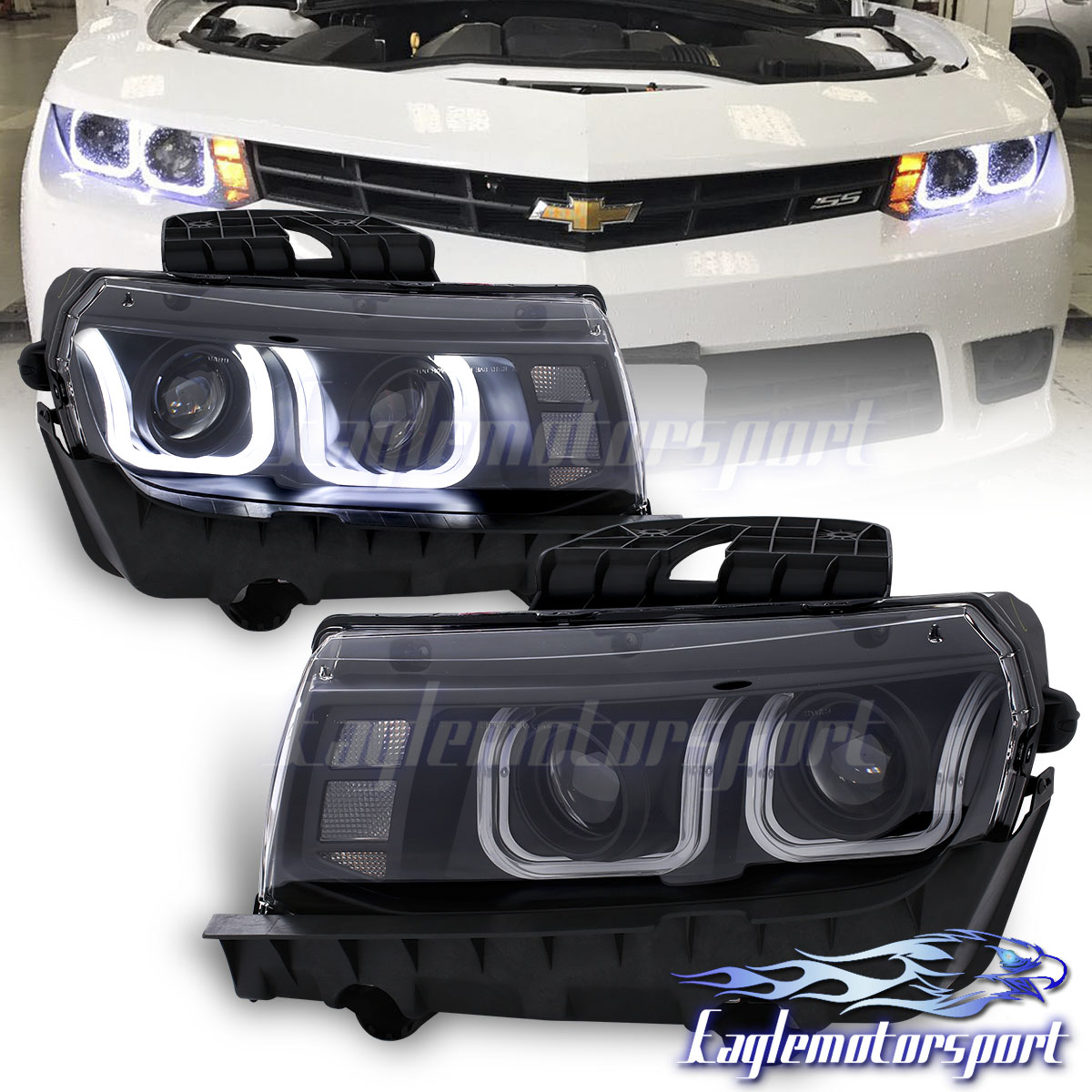 Ccfl U Style Tube 2014 2015 Chevy Camaro Projector Black