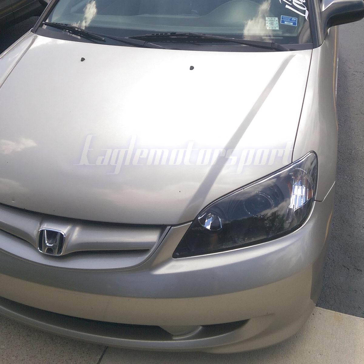 [LED Halo] 2004 2005 Honda Civic Coupe/Sedan Black