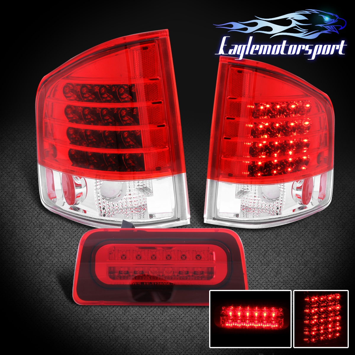 1994-2004 Chevy S10/GMC Sonoma LED Tail Lights + 3Rd Brake