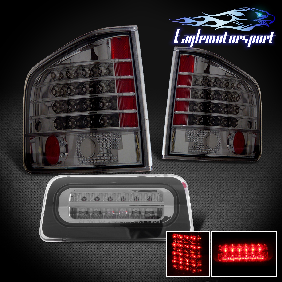 1994 2004 Chevy S10 Gmc Sonoma Smoke Led Tail Lights Smoke
