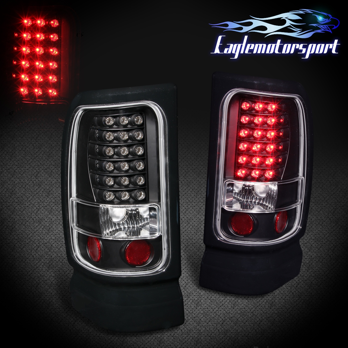 2001 Dodge Ram 1500 Headlights >> 1994-2001 Dodge Ram 1500/94-02 Ram 2500 3500 Black LED ...
