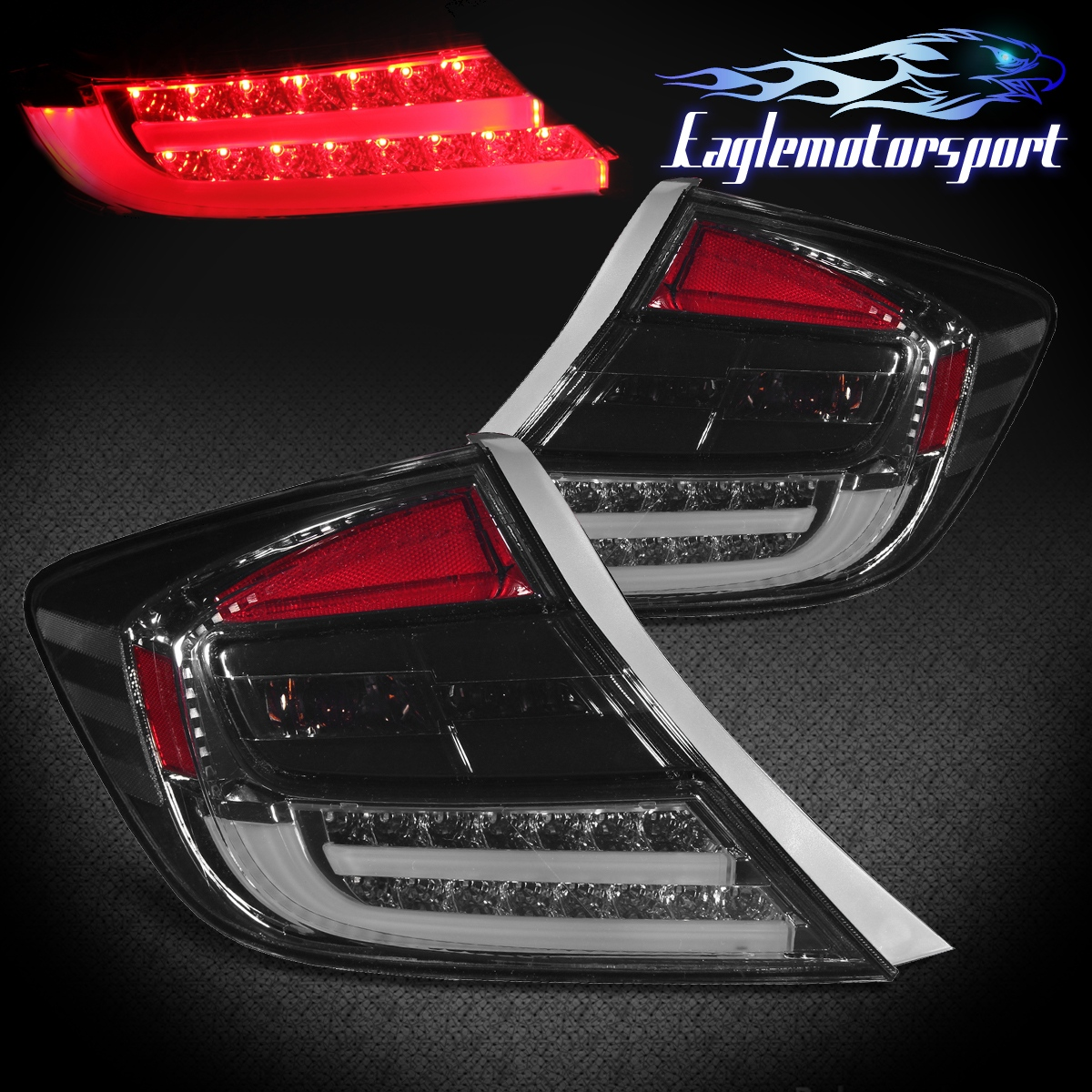 Led Red Smoked Lens Taillight Replacement Set For 2012