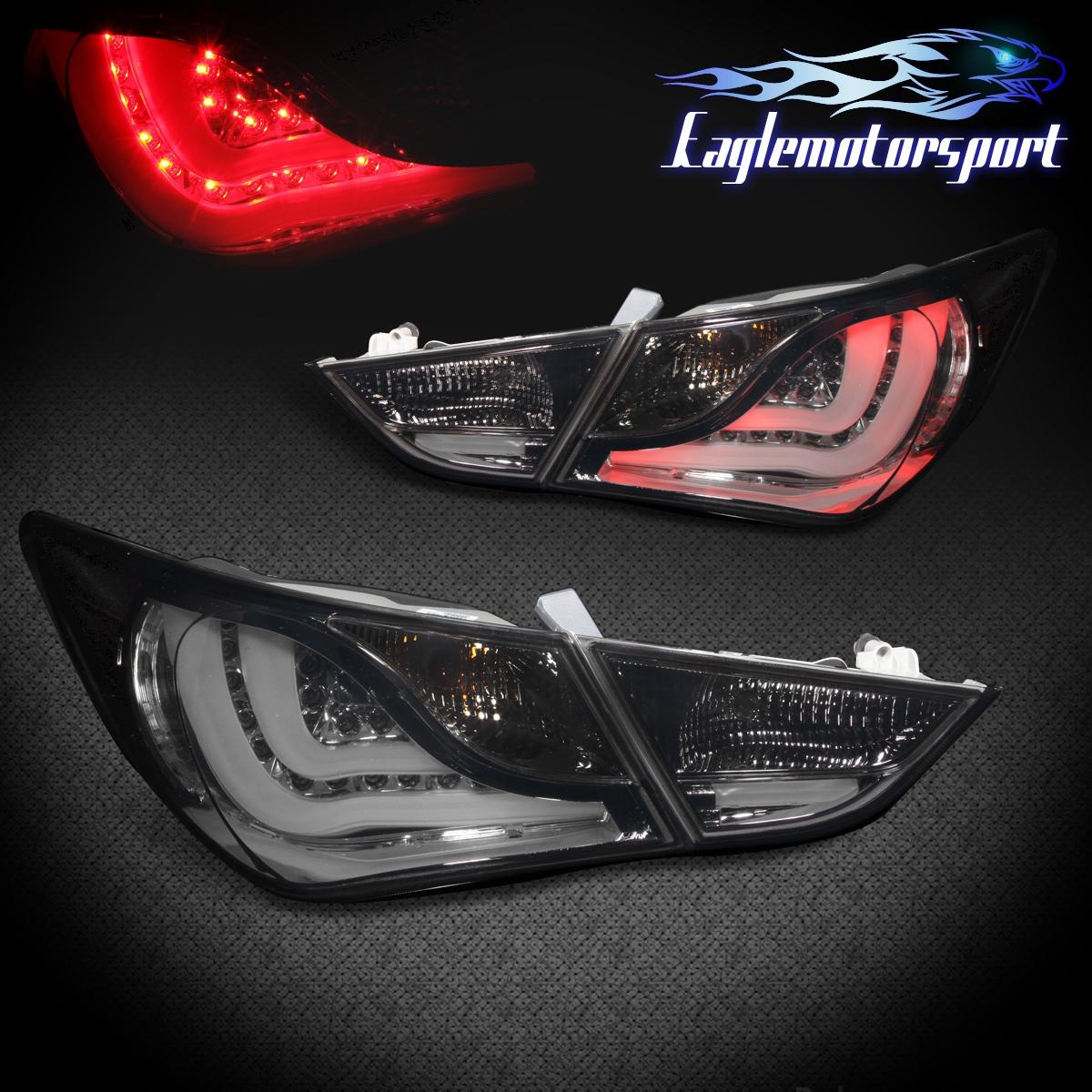 2015 Hyundai Sonata Hybrid >> For 2011 2012 2013 Hyundai Sonata Smoked LED Tail Lights Rear Brake Lamps Pair | eBay