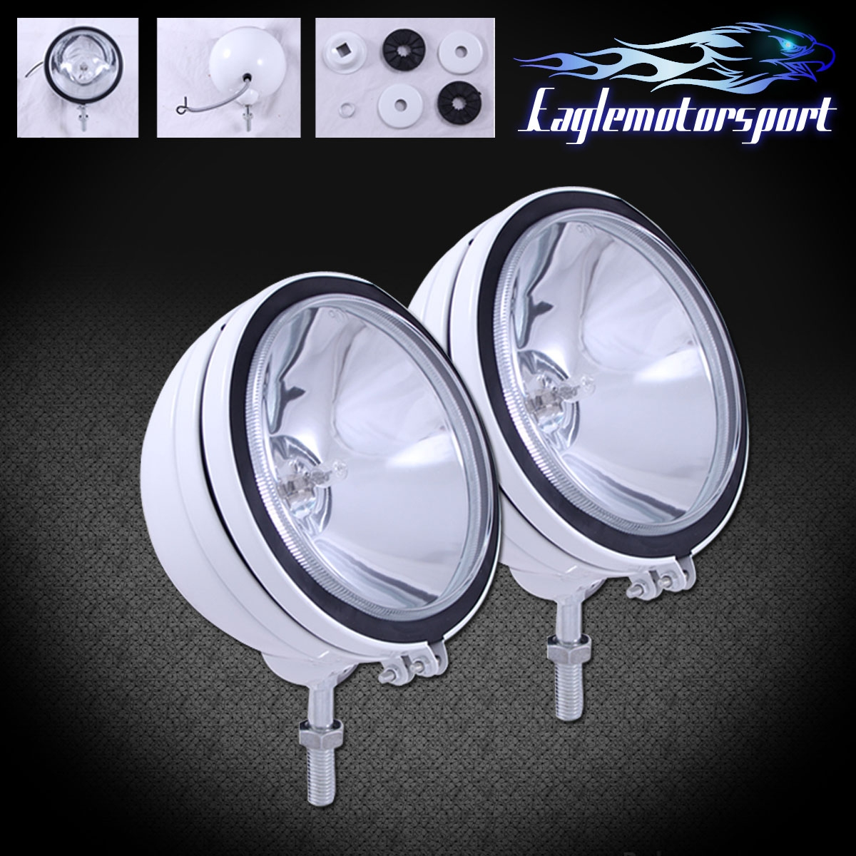 2x Round 6 Quot Six Inch 4x4 55w Off Road Light Suv Truck