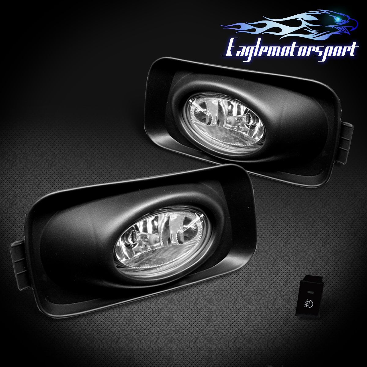 JDM Clear] 2003 2004 2005 Acura TSX Fog Lights Lamps W