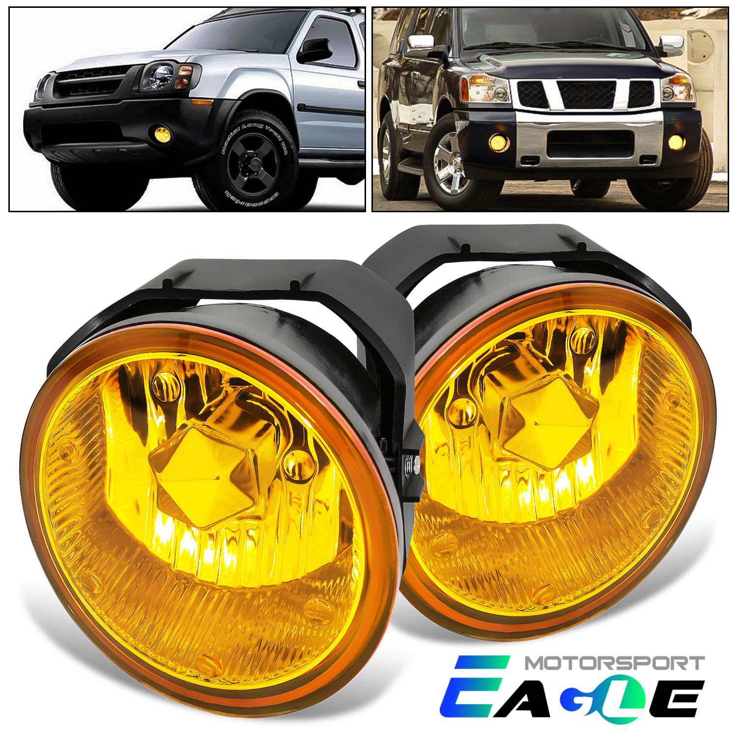 Details about For 2001-2004 Nissan Frontier/02-04 Xterra Yellow Fog on